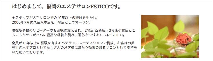 ESTICO(エスティコ)