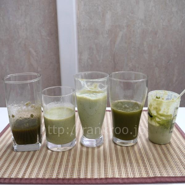 グリーンスムージー_グラスを並べる