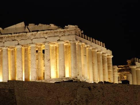 パルテノン神殿のライトアップ